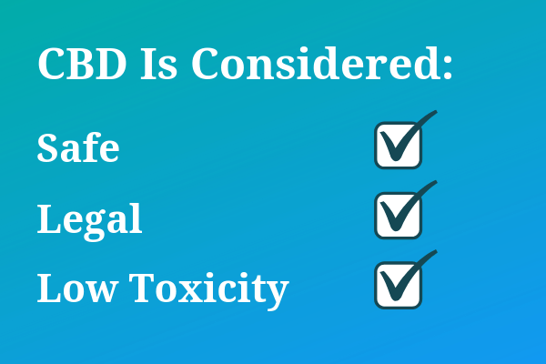 cbd is considered safe, legal, non-toxic