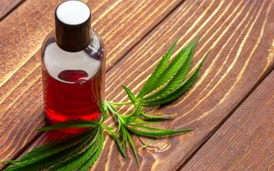 hemp oil for hair - bottle of hemp oil